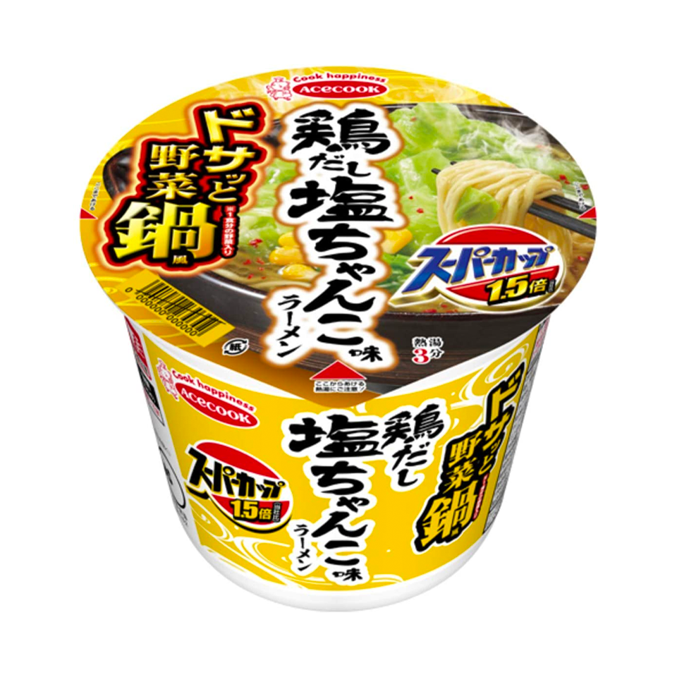 Acecook - Sizzling Hot Pot Style Vegetables And Chicken Dashi Broth Ramen (90g)
