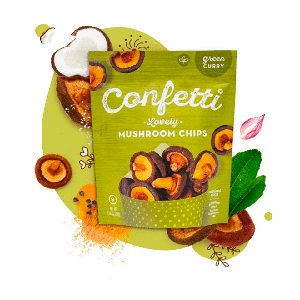 Confetti - Green Curry Mushroom Chips (70g)