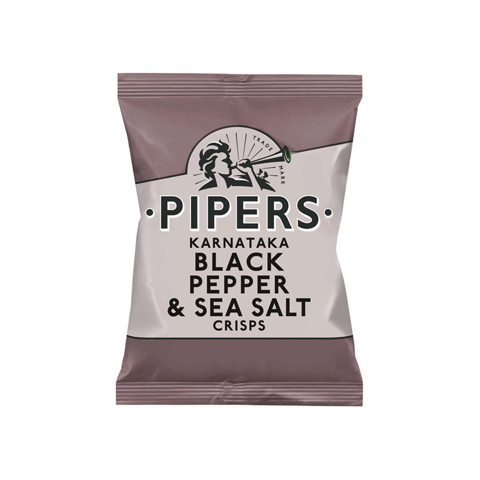 Pipers - Black Pepper And Sea Salt Crisps (40g)