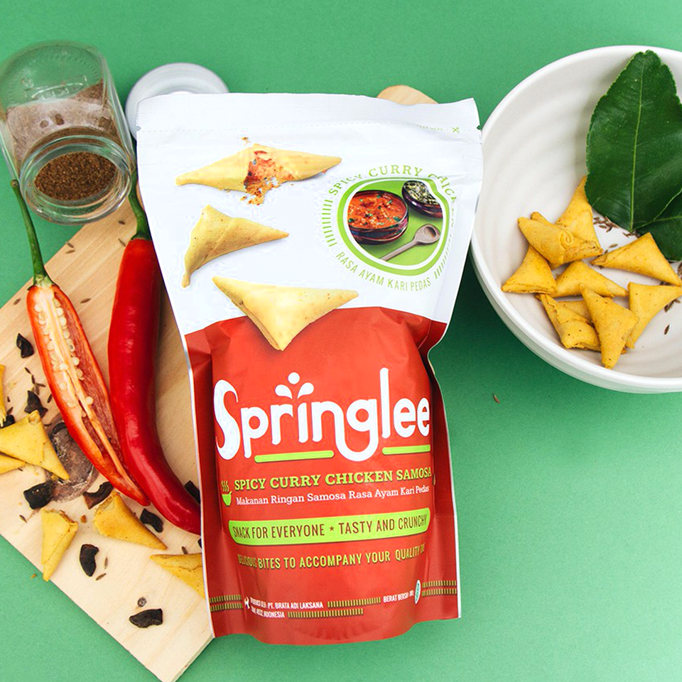 Springlee - Spicy Curry Chicken Samosa (100g)