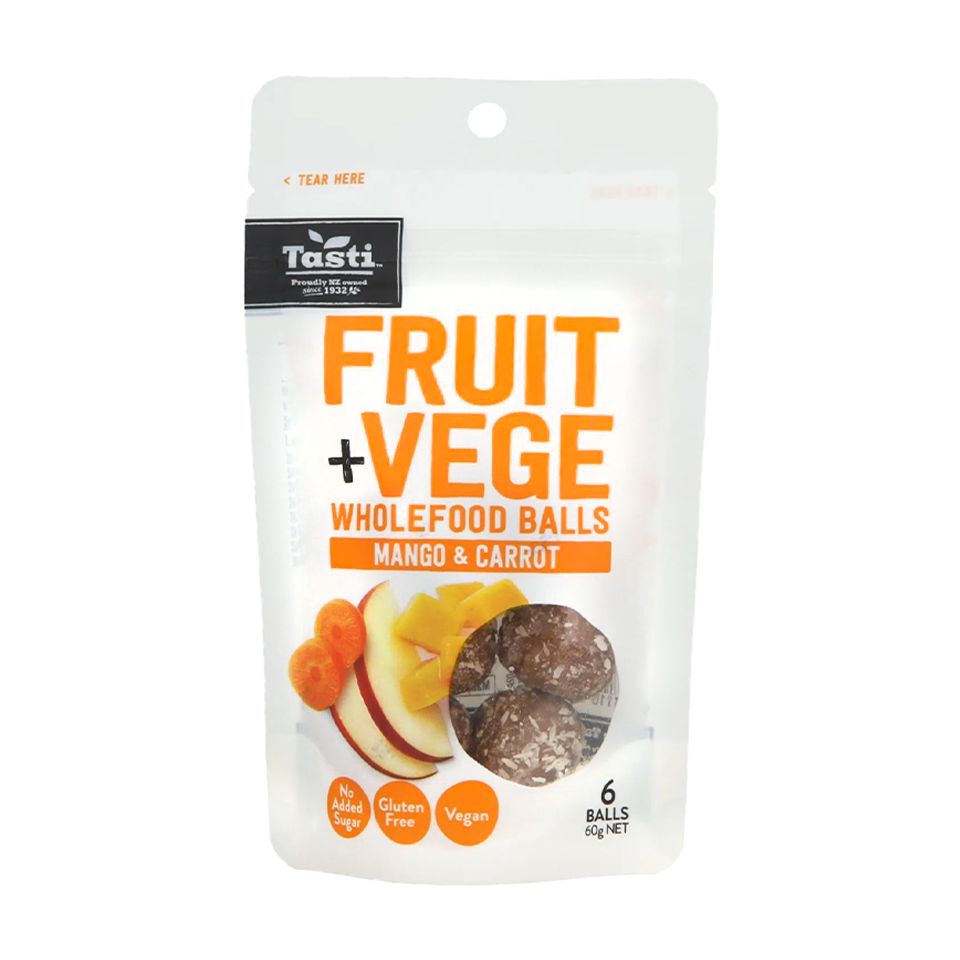 Tasti - Fruit Snack Balls Mango And Carrot (60g)