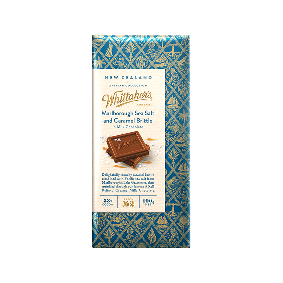 Whittakers - Artisan Collection Marlborough Sea Salt And Caramel Brittle (100g)