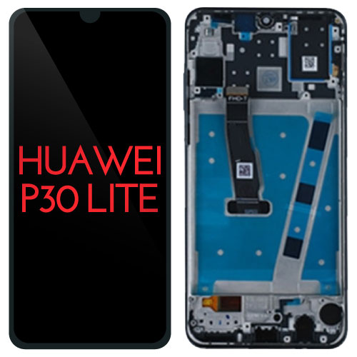 Replacement AAA Quality LCD Screen And Digitizer Assembly with Frame Compatible With Huawei P30 Lite MAR-LX1 MAR-AL00