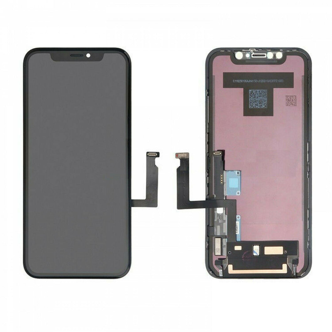 Replacement AAA Quality LCD Screen And Digitizer Assembly With Frame Compatible With Apple iPhone XR - Black/Space Grey 6.1