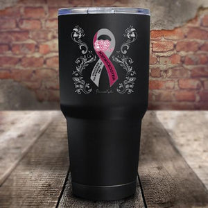 Polymicrogyria Awareness Floral 30oz UV Tumbler