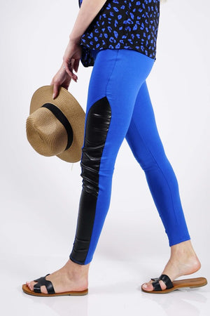 FAUX LEATHER LEGGING IN ORANGE
