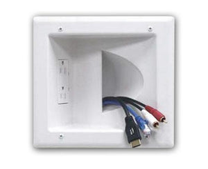 Recessed Media Plate w/ Duplex Receptacle