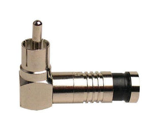 RCA RG6 Right Angle Nickel SealSmart Coaxial Compression Connectors