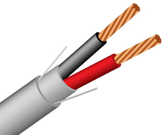 20/2 Alarm-Security/ audio Cable, CMR, Stranded (7 Strand) Unshielded, 1000' Gray