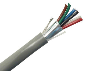 22/6 Alarm-Security/ audio Cable, CMR, Stranded (7 Strand) Shielded, 1000' - Gray