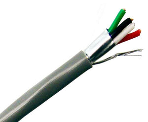 22/4 Alarm/ Audio Security Cable ™ Shielded CMR - 7 Stranded ™ 1000 FT Grey
