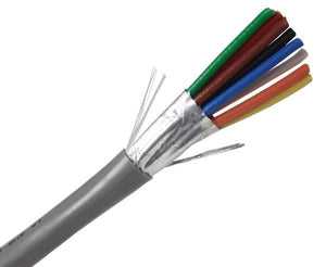 22/8 Alarm-Security / Audio Cable, CMR, Stranded (7 Strand) Shielded, 1000' - Gray