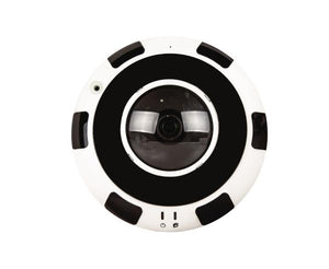 12.0 Megapixel Fish-Eye IP Dome Security Camera, Panoramic, 1.8mm Lens