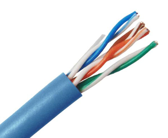 CAT6 Bulk Stranded Ethernet Cable 24 AWG, 1000FT - Blue