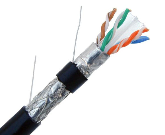 Dual Shielded CAT6 Direct Burial Cable - Black