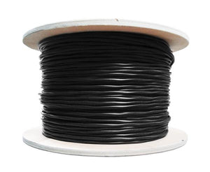CAT6 Outdoor CMX Cable, UV Protected, 1000' - Black