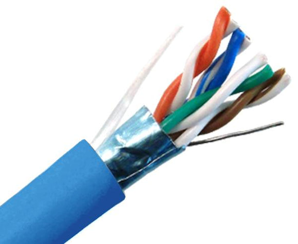 CAT6 Shielded Stranded Ethernet Cable, 1000ft - Blue