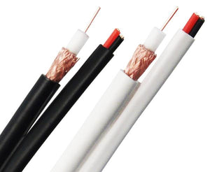 Siamese Cable 20AWG RG59 BC Coaxial Cable, 18/2 Power Cable