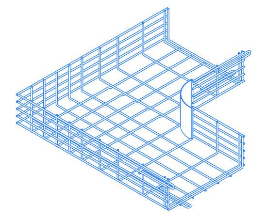 CM25 Wire Cable Tray L-Junction