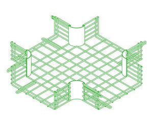 CM25 Wire Cable Tray 4-Way Junction