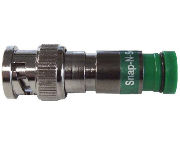 BNC Connector, Pro Snap N Seal™ Universal Coaxial Connector ™ Green Ring