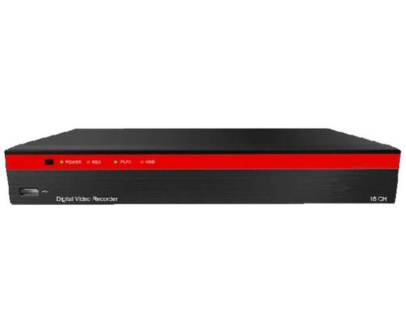 16-Channel Analog & IP Hybrid 5.0MP, up to 4K Resolution DVR with Control over Coax