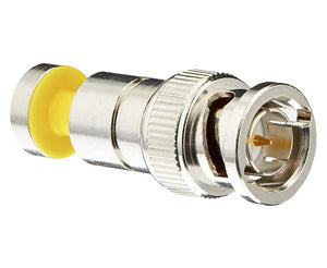 BNC RGB Nickel SealSmart 25 AWG Coaxial Compression Connector