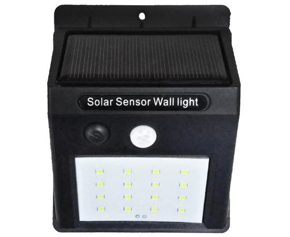 Solar Motion Sensor Detector LED Flood Light with 270Lm for easy Wall Mount. Built-in Sensor Eye Detects Motion & Turns the light On