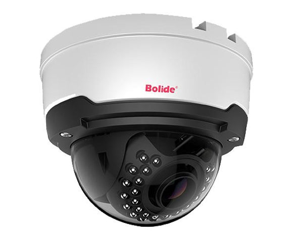 4MP H.265 IP IR Dome Camera with a 2.8-12mm Motorized Varifocal Lens. IR offers a distance of up to 100ft.