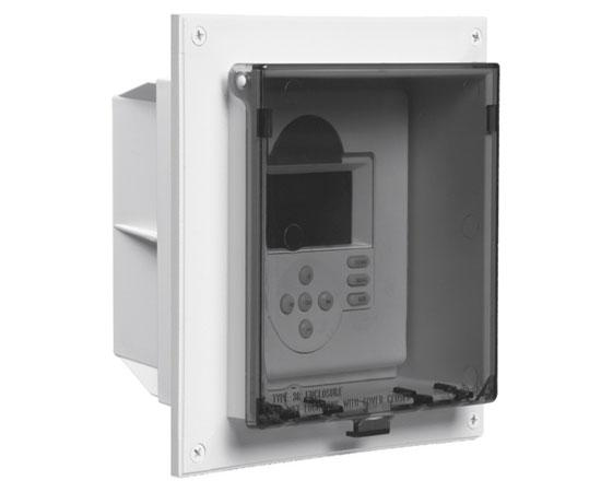 Non-metallic Weatherproof Exterior Keypad Enclosure with Clear Cover