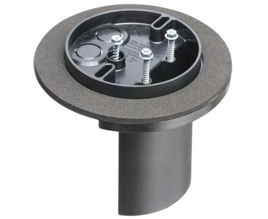Round Long Side Mount Screw-On L-Shaped Vapor Box for Fans & Fixtures