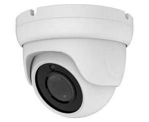 5MP IP H.265, IP66, Vandal PoE Eyeball Dome Security Camera, 3.6mm Fixed Lens, Gray