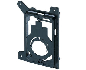 Single Gang New Construction Low Voltage Mounting Brackets, Black w/ Fitting Mount