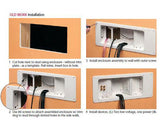 Non-metallic Plastic recessed power/low voltage TV Box™ combination box with Angled Openings- Instructions