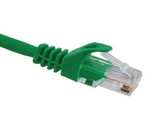 CAT5E Ethernet Patch Cable, Snagless Molded Boot, RJ45 - RJ45, 1ft