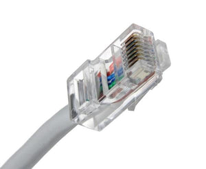 CAT5E Ethernet Patch Cable, Non-Booted, RJ45 - RJ45, 5ft - GRAY
