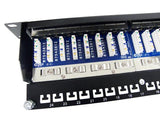 CAT 5E Shielded Ethernet Patch Panel for Networking, 24 port_8