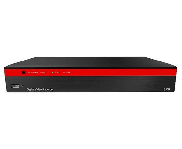 8-Channel Analog & IP Hybrid 5.0MP, up to 4K Resolution DVR with Control over Coax