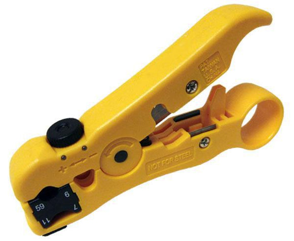 All-In-One Cable Stripper for Data, Coax, Telco, and Fiber