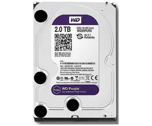 Surveillance Hard Drive, 2TB, Security Grade