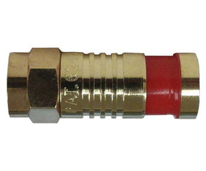 F-Type Gold RG59 Coax Compression Connector, SealSmart™ - 100pc Bag