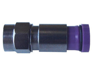 RG6 Pro Snap-N-Seal® Male Quad Shield, F-Type Connector