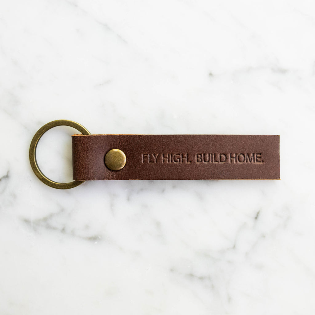 Fly High Build Home Key Chain