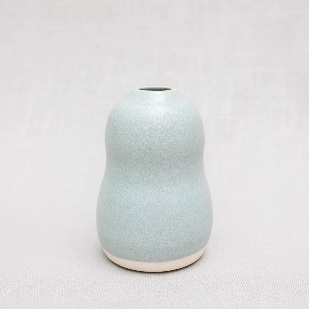 Hourglass Vase in Celadon