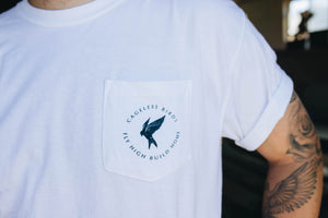 We Rise We Bow Pocket Tee