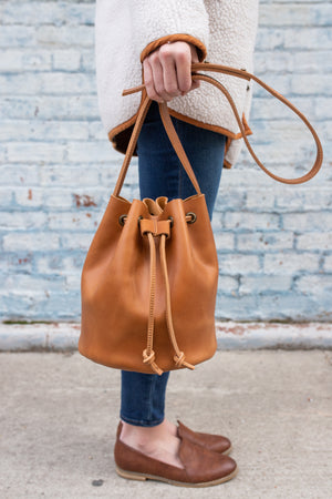 The Bucket Bag in Caramel