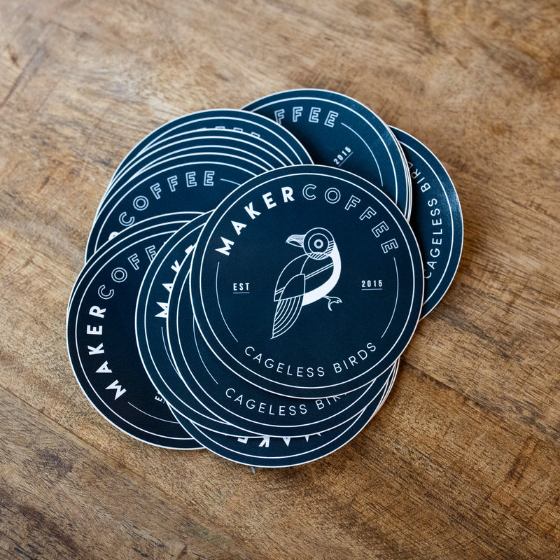 Maker Coffee Logo Sticker