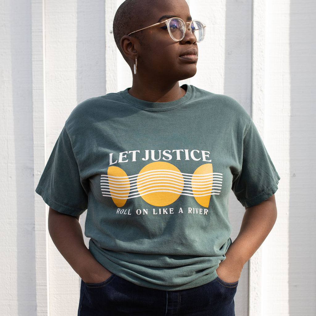 Let Justice Roll Green Tee