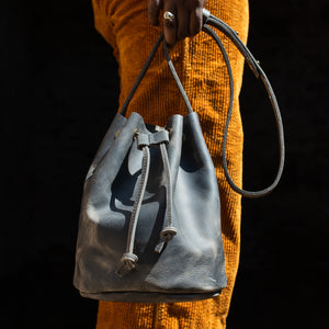The Bucket Bag in Charcoal