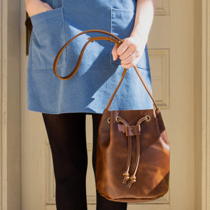 The Bucket Bag in True Brown